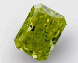 1.00 ct Fancy Vivid Yellowish Green Diamond