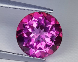 3.92 ct AAA Quality Gem Stunning Round Cut Natural Pink Topaz