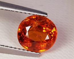 2.69 ct Top Grade Gem  Orange Oval Oval Cut Spessarite Garnet