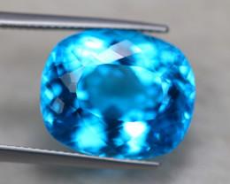 24.29Ct Natural Swiss Blue Topaz Cushion Cut Lot B1260