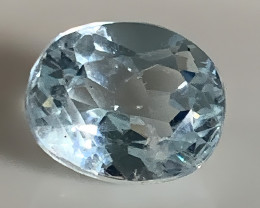 3.39ct Ice Blue  Natural Aquamarine No Reserve! (lovely)