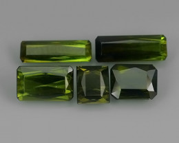 5.80 CTS-ALLURING TOP GREEN PARTY COLOR GREEN TOURMALINE OCTAGON CUT!!