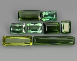 8.40 CTS GLITTERING OCTAGON CUT UNHEATED MOZAMBIQUE RARE TOURMALINE 4 PCS