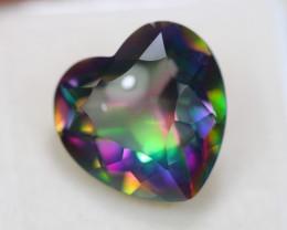11.67ct Natural Mystic Topaz Heart Cut Lot V6027