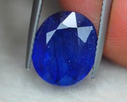 6.86ct Blue Sapphire Oval Cut Lot V6035