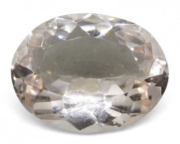 5.34 ct Oval Morganite-$1 No Reserve Auction