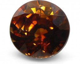 1.15 ct Round Orange Zircon