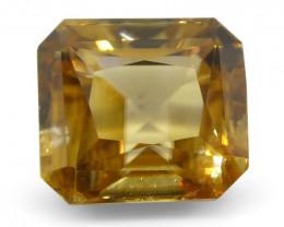 2.75 ct Emerald Cut Yellow Zircon