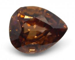 2.08 ct Pear Shape Orange Zircon
