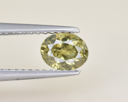 Natural Demantoid Garnet 0.68 Cts, Full Sparkle Faceted Gemstone