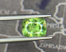 Natural Demantoid Garnet 1.51 Cts, Full Sparkle Faceted Gemstone