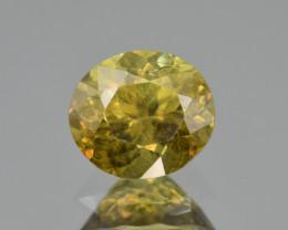 Natural Demantoid Garnet 2.03 Cts, Full Sparkle Faceted Gemstone