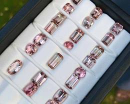 30.65 Carats Eye Clean Baby Pink Tourmaline Gemstones Parcel