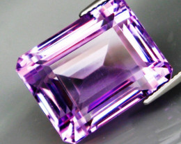 29.98 ct. Natural Top Nice Purple Amethyst Unheated Brazil - IGE Сertified