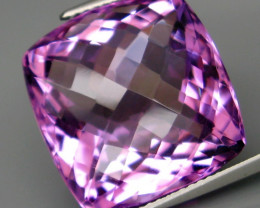 21.65 ct. Natural Top Nice Purple Amethyst Unheated Brazil - IGE Сertified