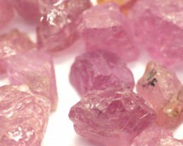 416Ct Natural Pink Spinel Rough Parcel