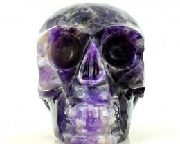 Genuine 1476.00 Cts Amethyst Carved Human Skull