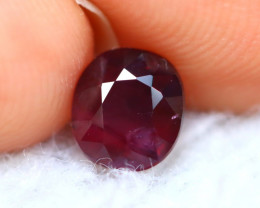 Unheated Ruby 0.98Ct Natural Tanzania Vivid Red Ruby E3002