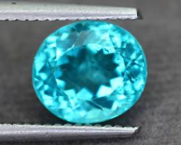 Rare 3.14 ct Amazing Luster Blue Apatite SKU.8