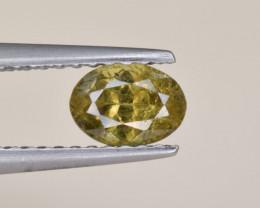 Natural Demantoid Garnet 0.65 Cts, Full Sparkle Faceted Gemstone