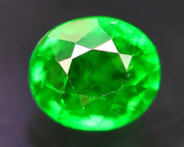 Tsavorite 0.90Ct Natural Intense Vivid Green Color Tsavorite Garnet B3034