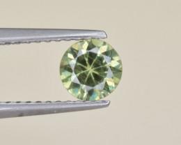 Natural Demantoid Garnet 0.71 Cts, Full Sparkle Faceted Gemstone