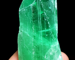 Amazing Good color Damage free Double termination gemmy Hiddenite Crystal 3
