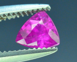Top Clarity & Color 0.40 ct Rarest Pink Ruby~Kashmir AB
