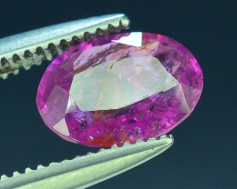 Top Clarity & Color 1.00 ct Rarest Pink Ruby~Kashmir AB