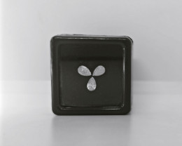 White Pear Brilliant Cut Diamond , Awesome Cut , 3 pcs pair , 0.68 cts