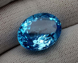24.65CT BLUE TOPAZ BEST QUALITY GEMSTONE IIGC101