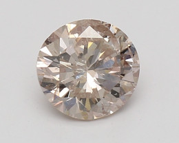 0.44ct  Fancy Natural Brown Pink GIA certified  + Video