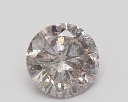 0.44ct Fancy Natural Brown Pink GIA certified round diamond + Video