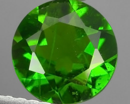 1.25 Cts MARVELOUS RARE ROUND NATURAL TOP GREEN- CHROME DIOPSIDE