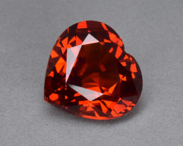 3.30 Cts Fantastic Beautiful Heart Shape Natural Spessartite Garnet
