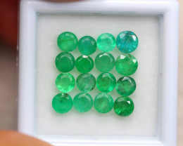 3.92Ct Natural Zambia Green Emerald Round Cut Lot B1281