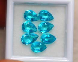 5.60Ct Natural Paraiba Color Topaz Pear Cut Lot B1283