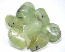 218 CTS  PREHNITE BEADS DRILLED (7 PCS) NP-270