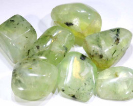 220 CTS PREHNITE BEAD DRILLED   NP-271