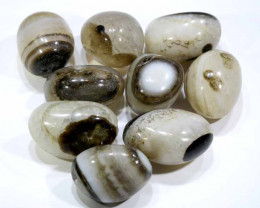 190 CTS AGATE BOTSWANA DRILLED (9 PCS)   NP-281