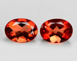 2.30 Cts 2 Pcs Amazing Rare Red Andesine Pair Natural Gemstone