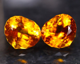 Madeira Citrine 7.83Ct 2Pcs Natural Vivid Golden Orange Color Citrine A3104
