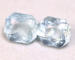 Aquamarine 2.80Ct 2Pcs Natural Blue Color Aquamarine A3119