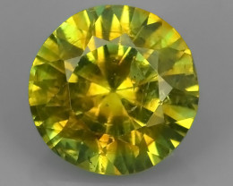 CERTIFIED1.351 CTS SPLENDID RARE NATURAL YELLOWISE-GREEN GROSSULAR ANDRADIT
