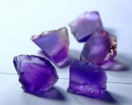 64.20CT Unheated ~ Natural Purple color Amethyst  Facet Rough Lot