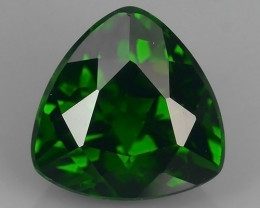 CERTIFIED 2.301 CTS NATURAL ULTRA RARE CHROME GREEN DIOPSIDE RUSSIA