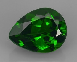 CERTIFIED 2.781 CTS NATURAL ULTRA RARE CHROME GREEN DIOPSIDE  RUSSIA