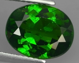 CERTIFIED 4.105 CTS AMAZING NATURAL RARE LUSTROUS CHROME DIOPSIDE GEM!