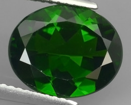 CERTIFIED 4.527 CTS NATURAL ULTRA RARE CHROME GREEN DIOPSIDE CUSHION RUSSIA