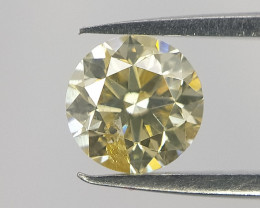 Fancy Light Yellow Color Diamond , 0.23 cts